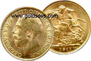 Canada Gold Sovereign 1911