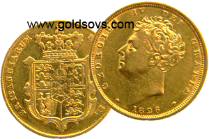 1826 George 4 Gold Sovereign