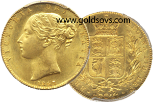1841 gold sovereign
