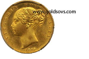 1845 Gold Sovereign PCGS MS66