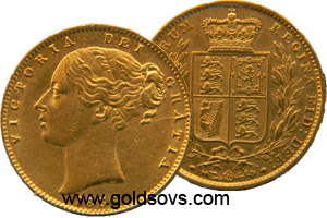 1855 Gold Sovereign
