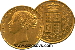 1858 Gold Sovereign
