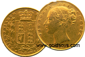 1860 Gold Sovereign