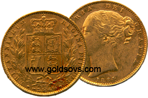1864 Gold Sovereign