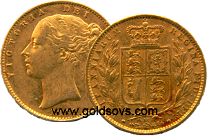 1865 Victoria Gold Sovereign