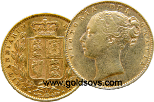 1879 Sydney Shield Sovereign