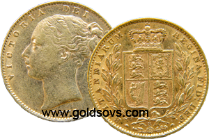 1884 Sydney Shield Sovereign
