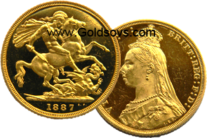 Proof 1887 Gold Sovereign