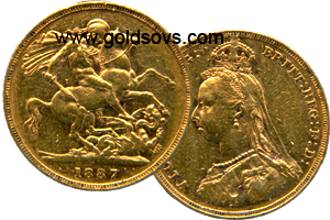1887 Gold Sovereign