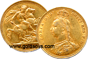 Sydney gold Soveriegn Jubilee head