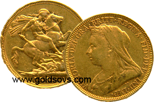 1893 Widow Head Gold Sovereign