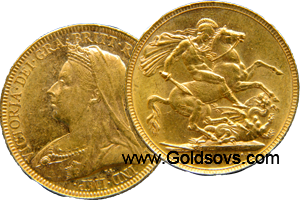 1895 Gold Sovereign