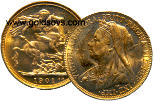 1901 Widow Head Gold Sovereign