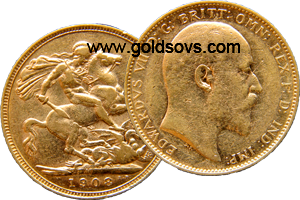 Melbourne Minted Gold Sovereign 1908