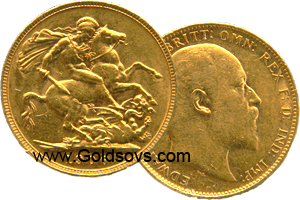 Perth Minted Gold Sovereign 1908