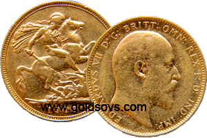 Melbourne Minted Gold Sovereign 1909