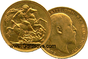 Perth Minted Gold Sovereign 1909