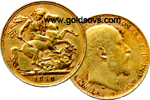 Melbourne Minted Gold Sovereign 1910