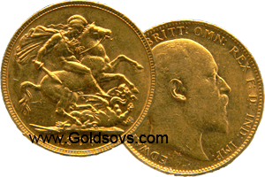 Perth Minted Gold Sovereign 1910